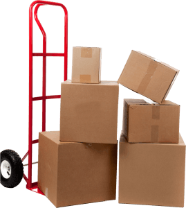 Push Cart with Boxes
